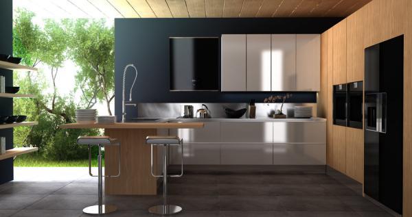 Elegant plus Minimalist Kitchen and Dining Room