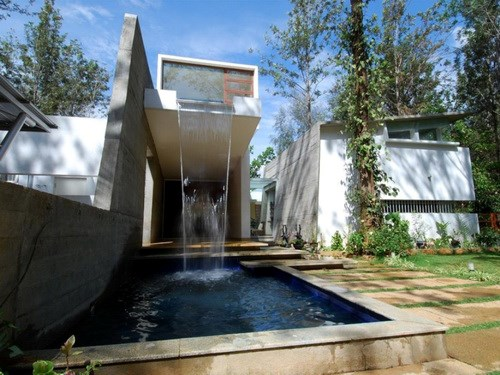 Swimming Pool Waterfalls in Home