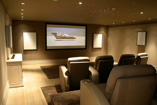 Theater seating design in home theater