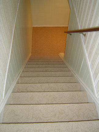 new carpet on the stairs for home basement