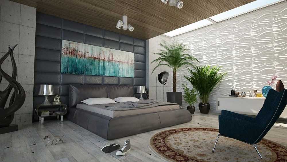 elegant wall bedroom