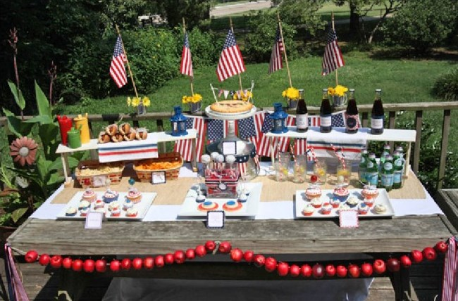Military Welcome Home Party Ideas - patriotic red white and blue party ideas