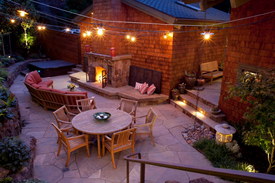 Outdoor Home Lighting - Mill Valley Residence traditional patio san francisco