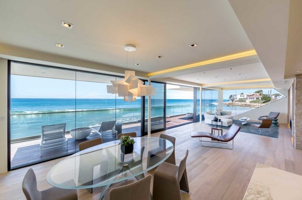 Wave beach house contemporary dining room los angeles