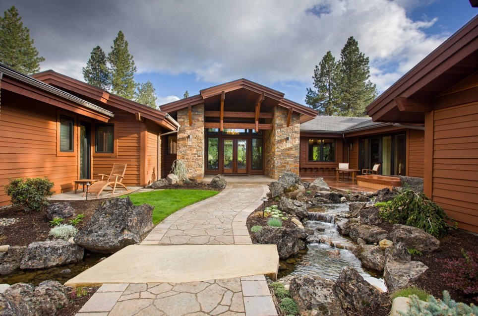custom creative home sidewalk ideas - broken top home traditional exterior portland