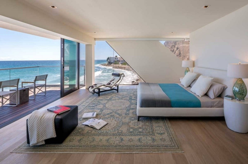 wave beach home contemporary bedroom los angeles