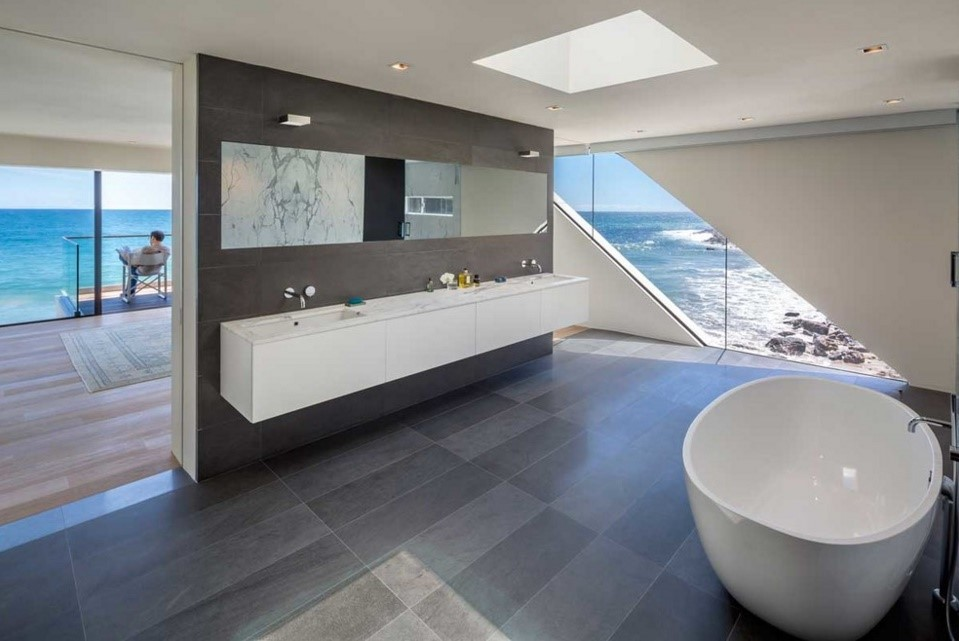 wave beach house contemporary bathroom los angeles