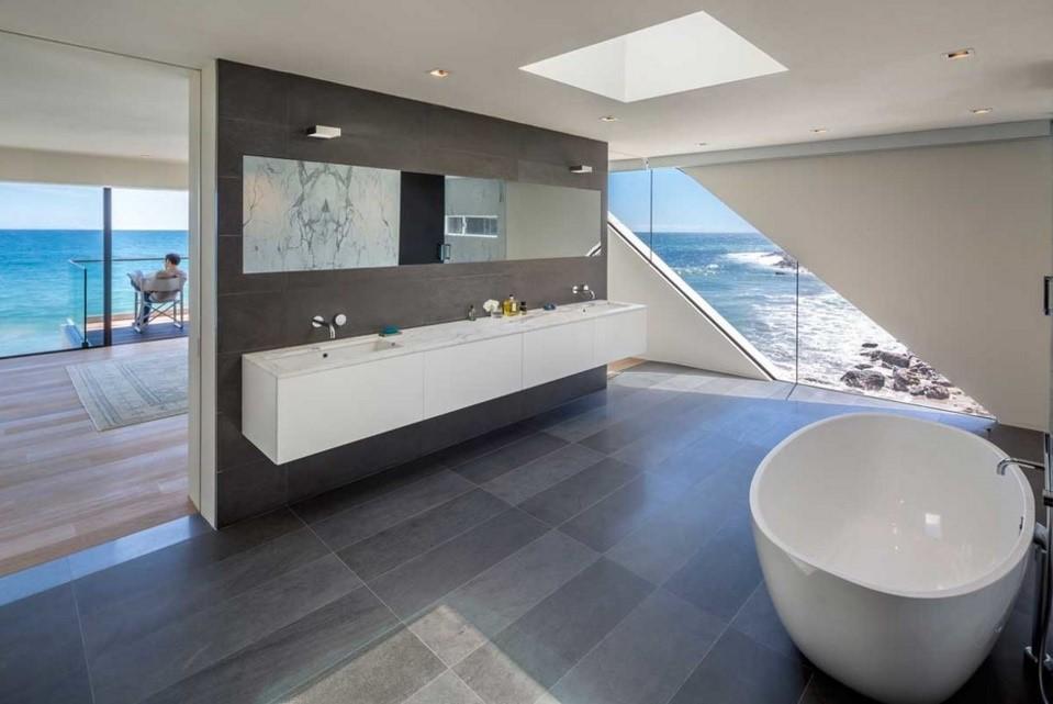 wave beach house contemporary bathroom los angeles