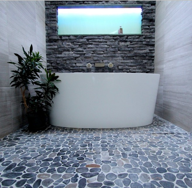 Cool Gray contemporary bathroom atlanta 2