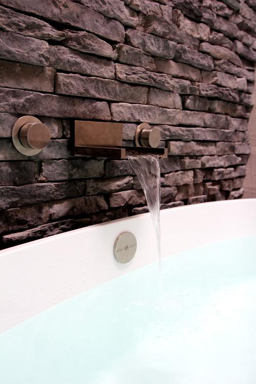 Cool Gray eclectic bathroom atlanta