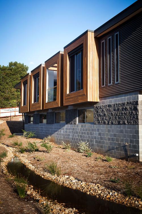 Elegant Warragul Residence contemporary exterior melbourne by Maxa Design