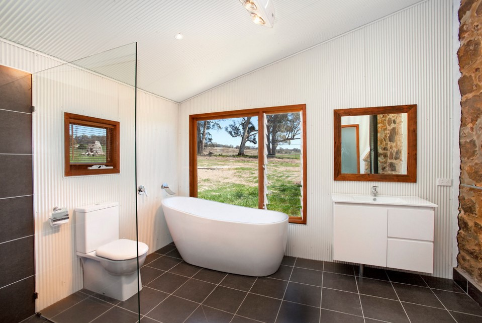 Laggan Church industrial bathroom design - sydney