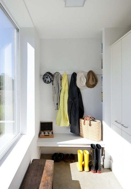 Passive House Retreat farmhouse closet providence