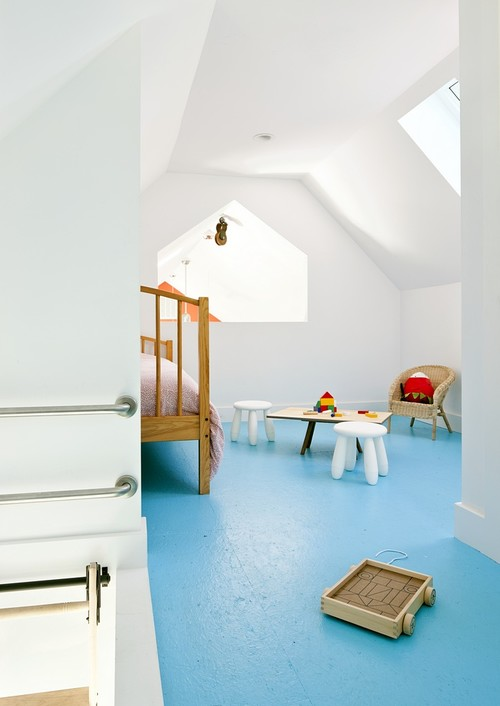 Passive House Retreat farmhouse kids bedroom providence