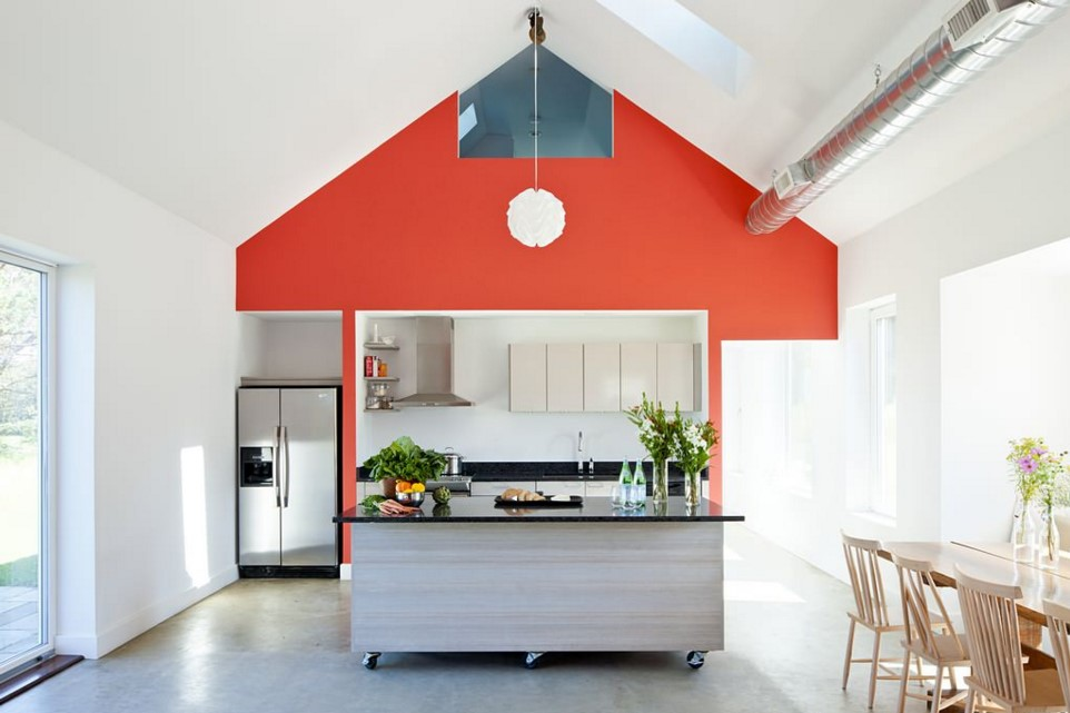 Passive House Retreat farmhouse kitchen providence