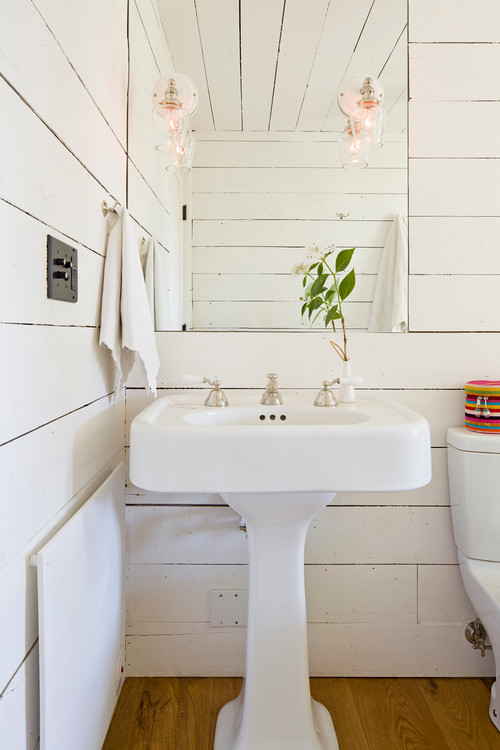 Tiny House farmhouse bathroom and mirror portland
