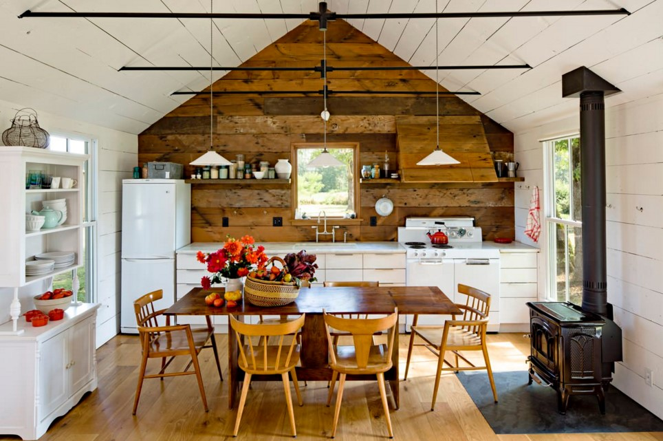 Tiny House farmhouse kitchen portland