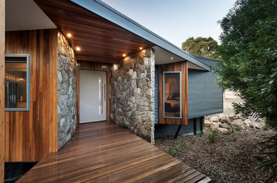Warragul Residence contemporary entry melbourne