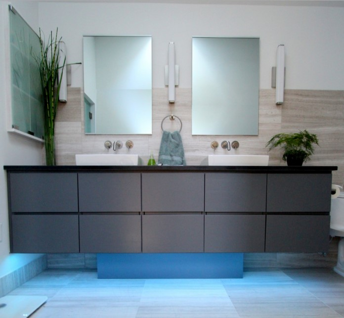 ambience cool gray contemporary bathroom atlanta