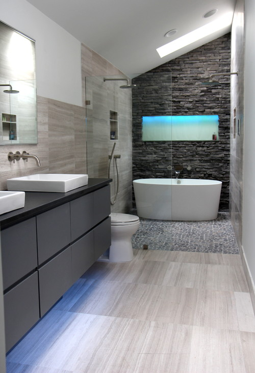 elegant cool gray bathroom