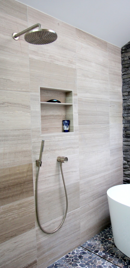 luxury gray bathroom