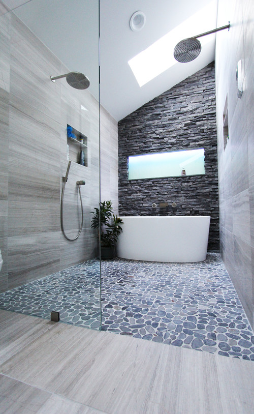 modern cool gray bathroom