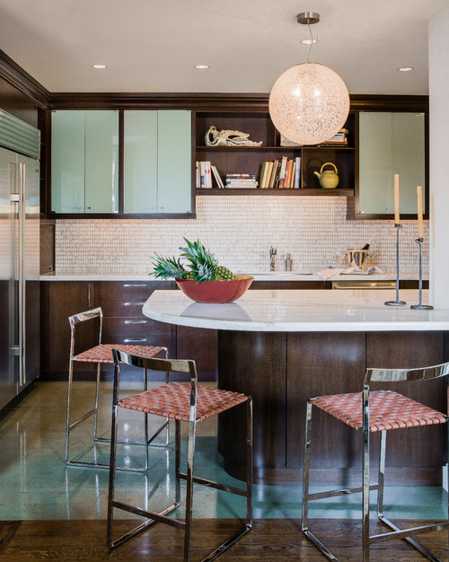 Back Bay contemporary kitchen boston