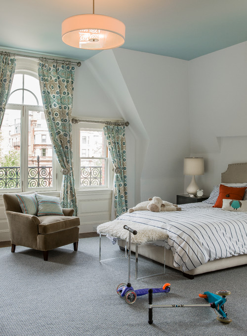 Back Bay eclectic kids bedroom boston