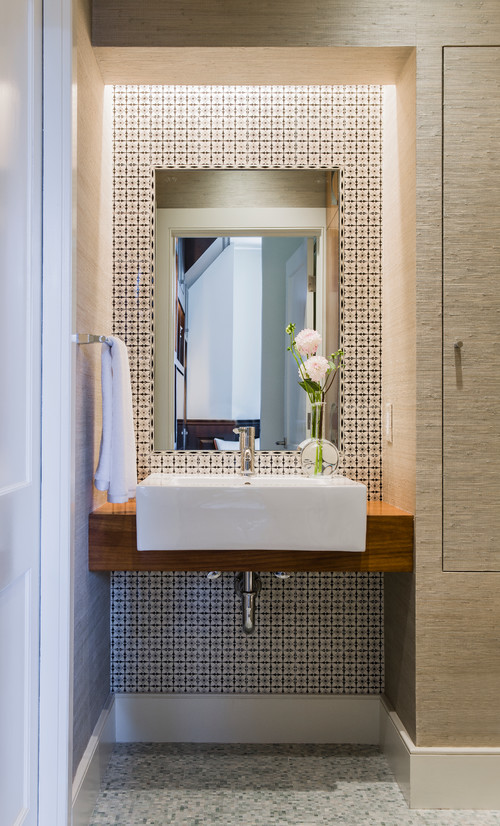 Back Bay modern powder room boston