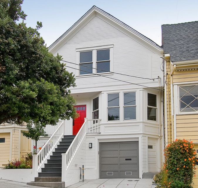 Douglass home transitional exterior san francisco