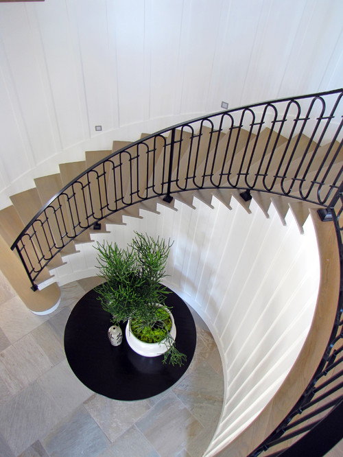 The Sandberg Home beach style staircase orange county
