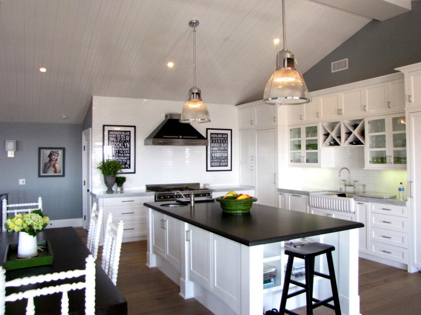 The Sandberg house beach style kitchen orange county