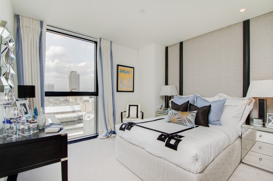 Neo Bankside apartments contemporary bedroom other metro