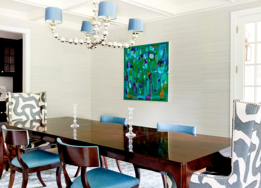 Rumson Residence eclectic dining room