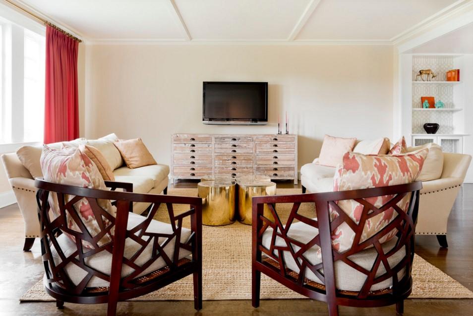 Rumson Residence transitional living room design