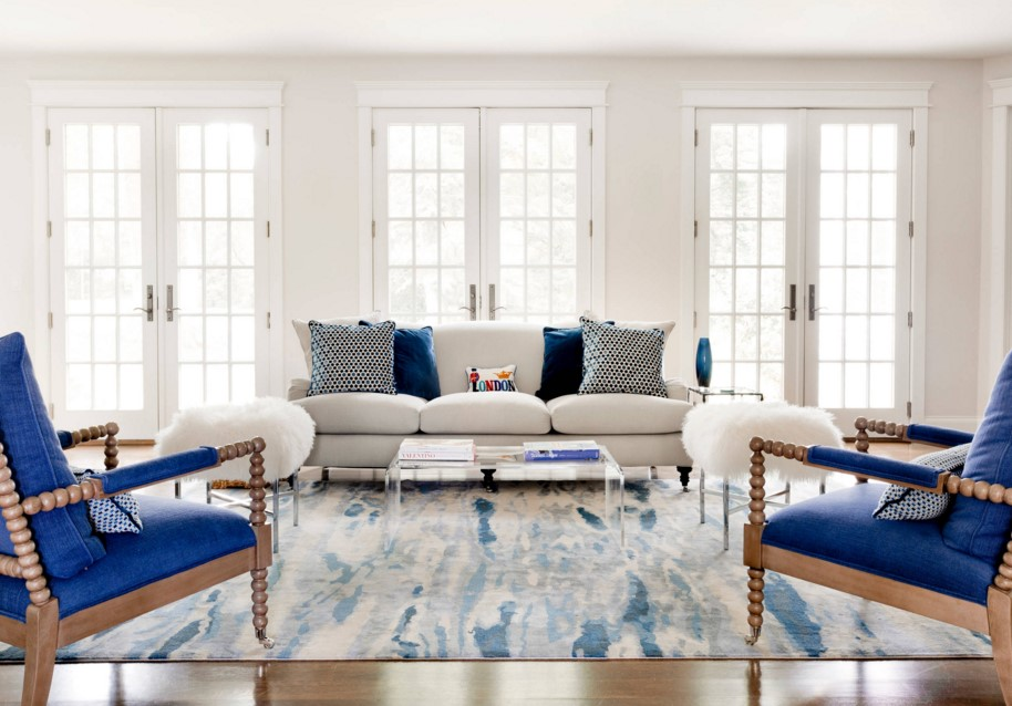Rumson Residence transitional living room