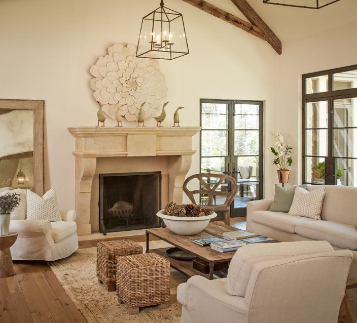 Shasta traditional living room with fireplace - houston 3