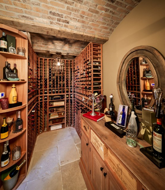 Shasta traditional wine cellar - houston