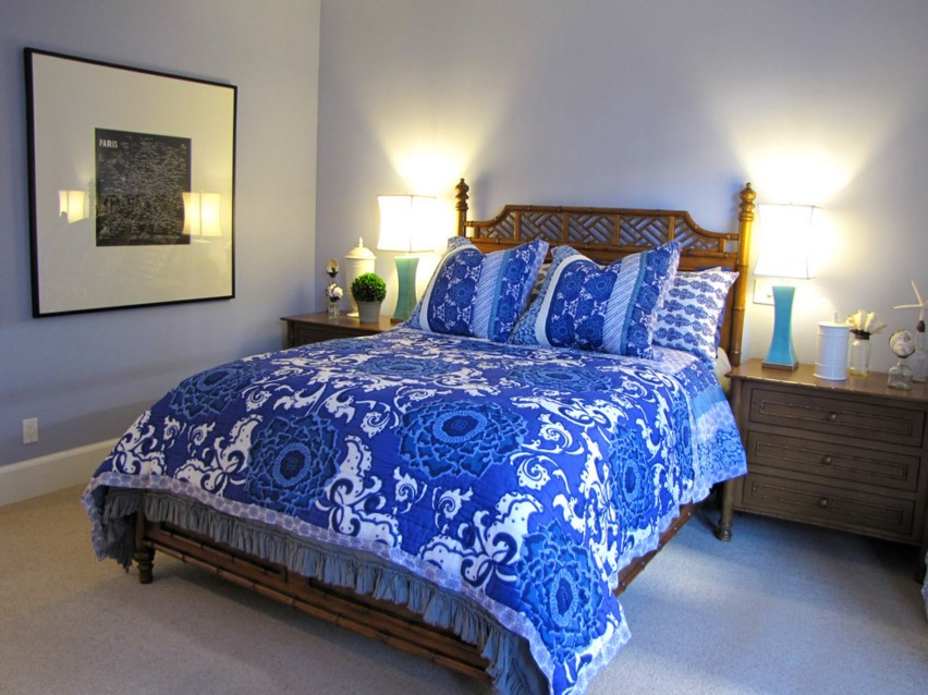 The Sandberg Home beach blue style bedroom orange county