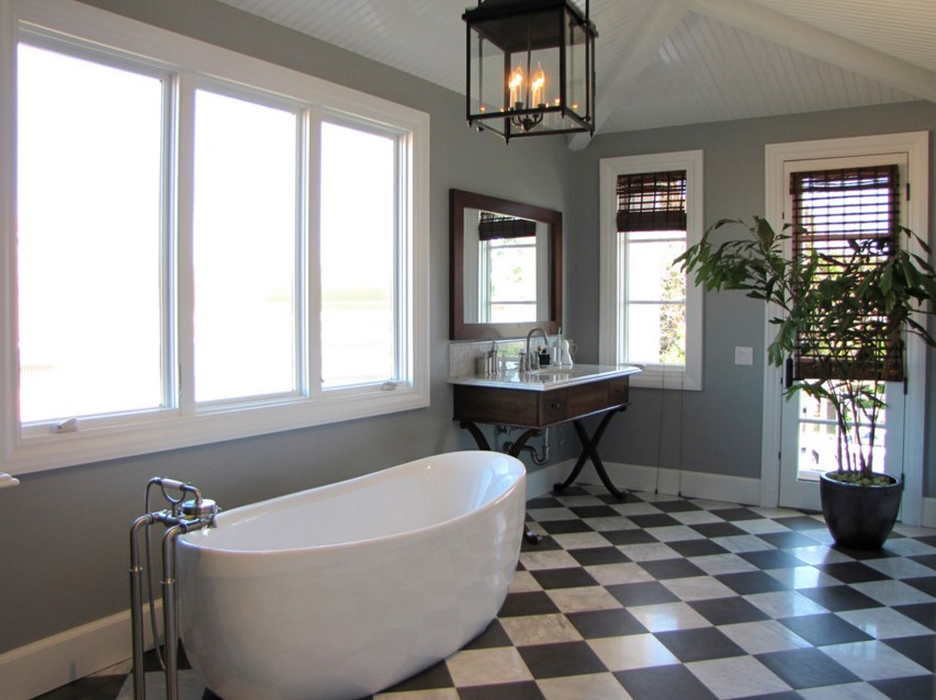 The Sandberg Home beach style bathroom orange county