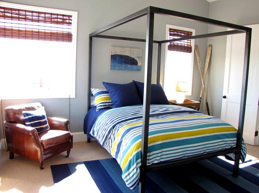The Sandberg Home beach style kids orange bedroom county