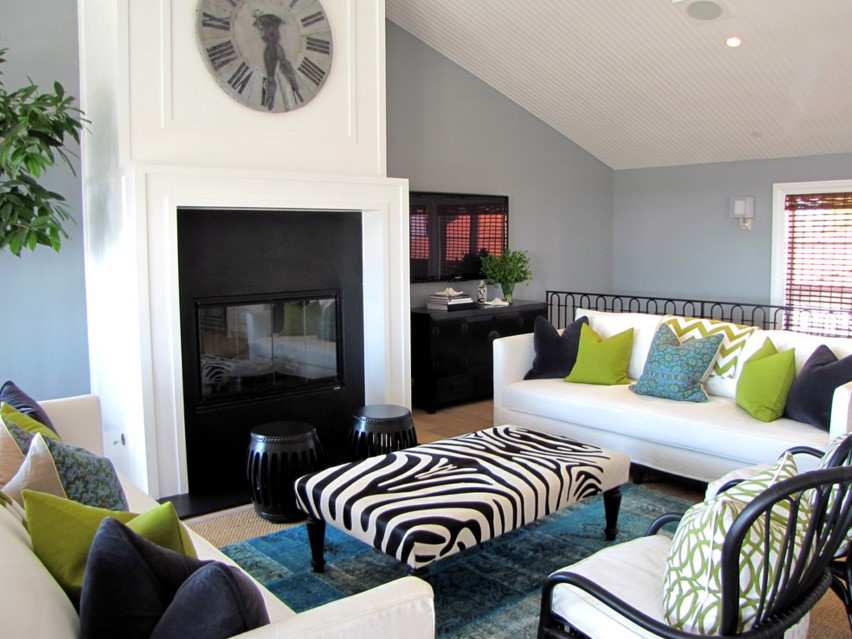 The Sandberg Home beach style living room orange county 2