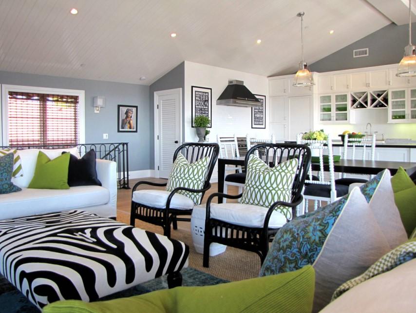 The Sandberg Home beach style living room orange county 3
