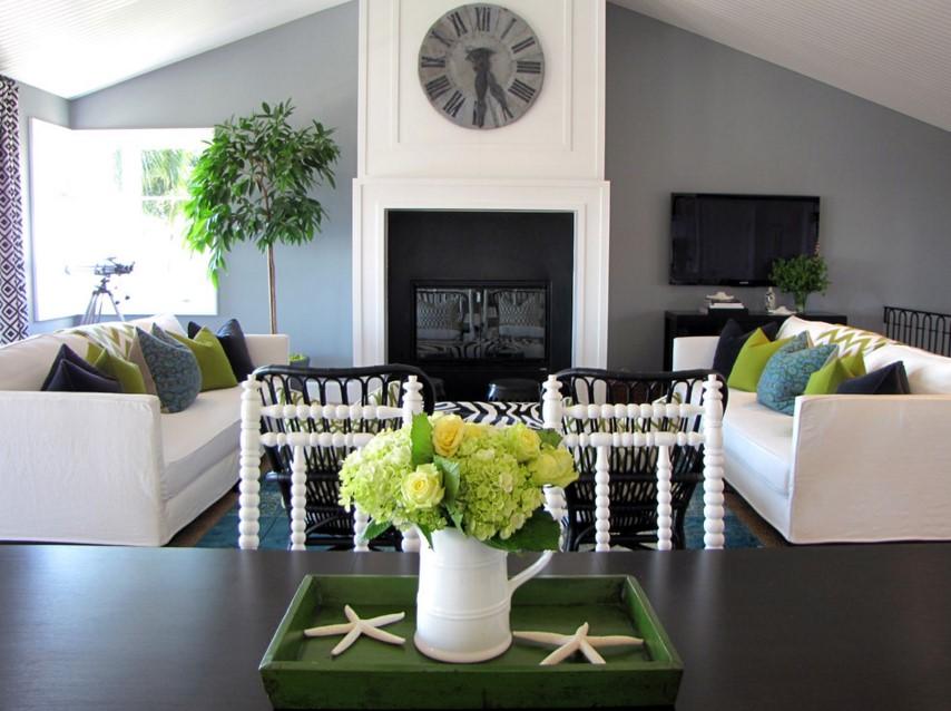 The Sandberg Home beach style living room orange county
