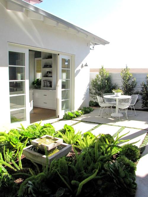 The Sandberg Home beach style patio orange county 2