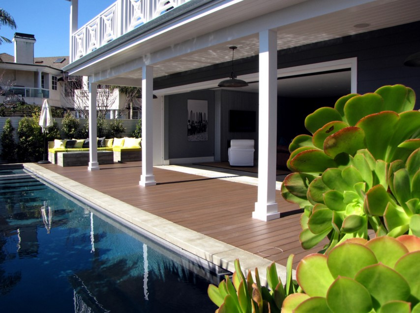 The Sandberg Home beach style patio orange county
