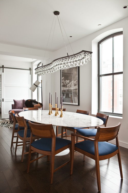 TriBeCa Apartment contemporary dining room new york