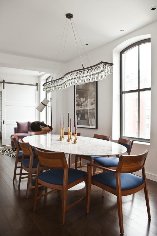 TriBeCa Apartment contemporary dining room new york