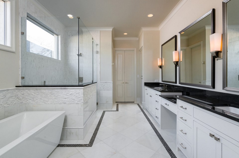 cjb SIGNATURE SERIES HOMES traditional bathroom design - dallas