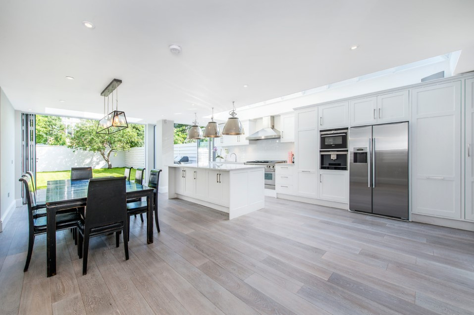 bishops park contemporary white kitchen design - london